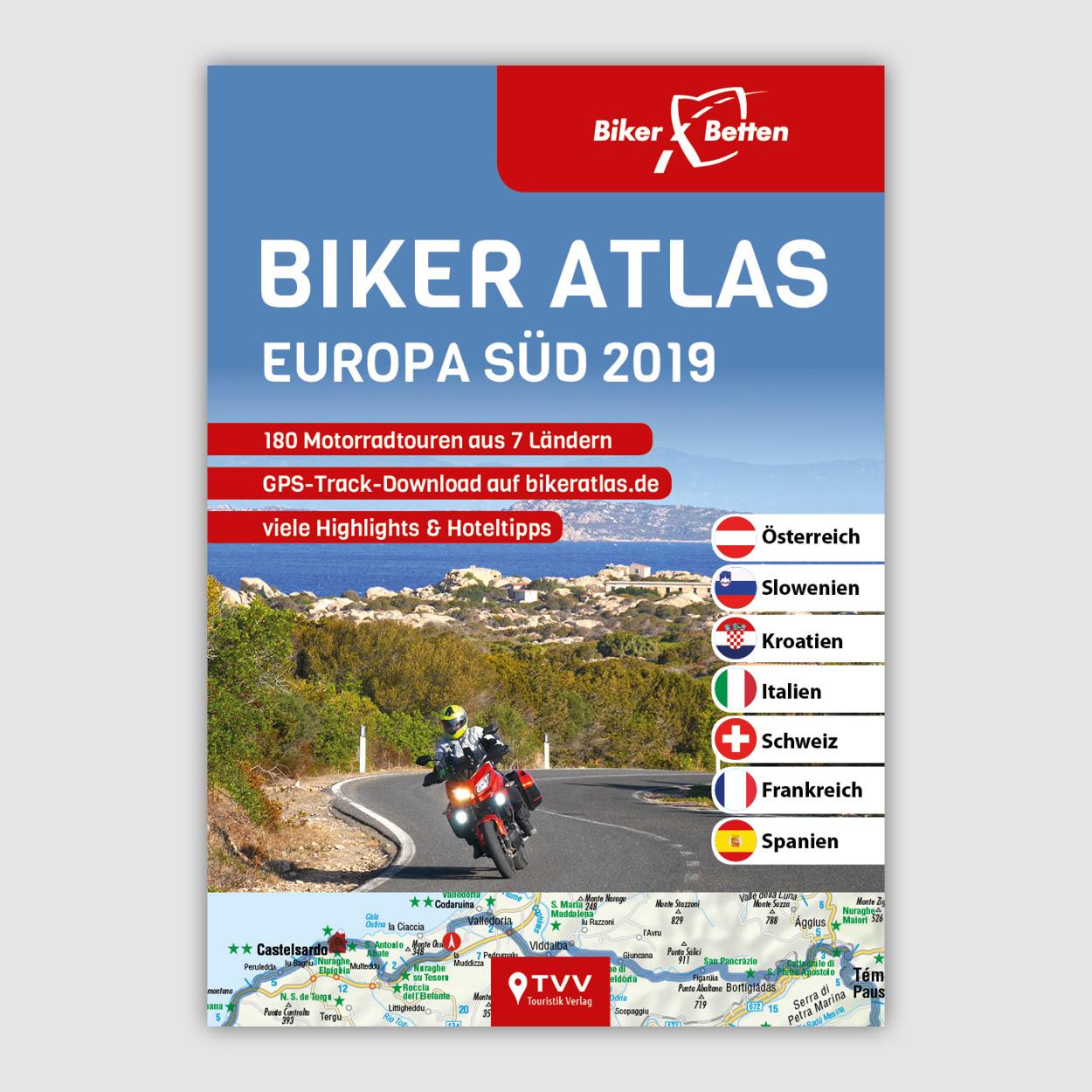 Neu Biker Atlas Eu 2019 Print Webshop Bikerbetten