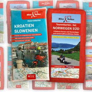 BikerBetten Tourenkarten Sets