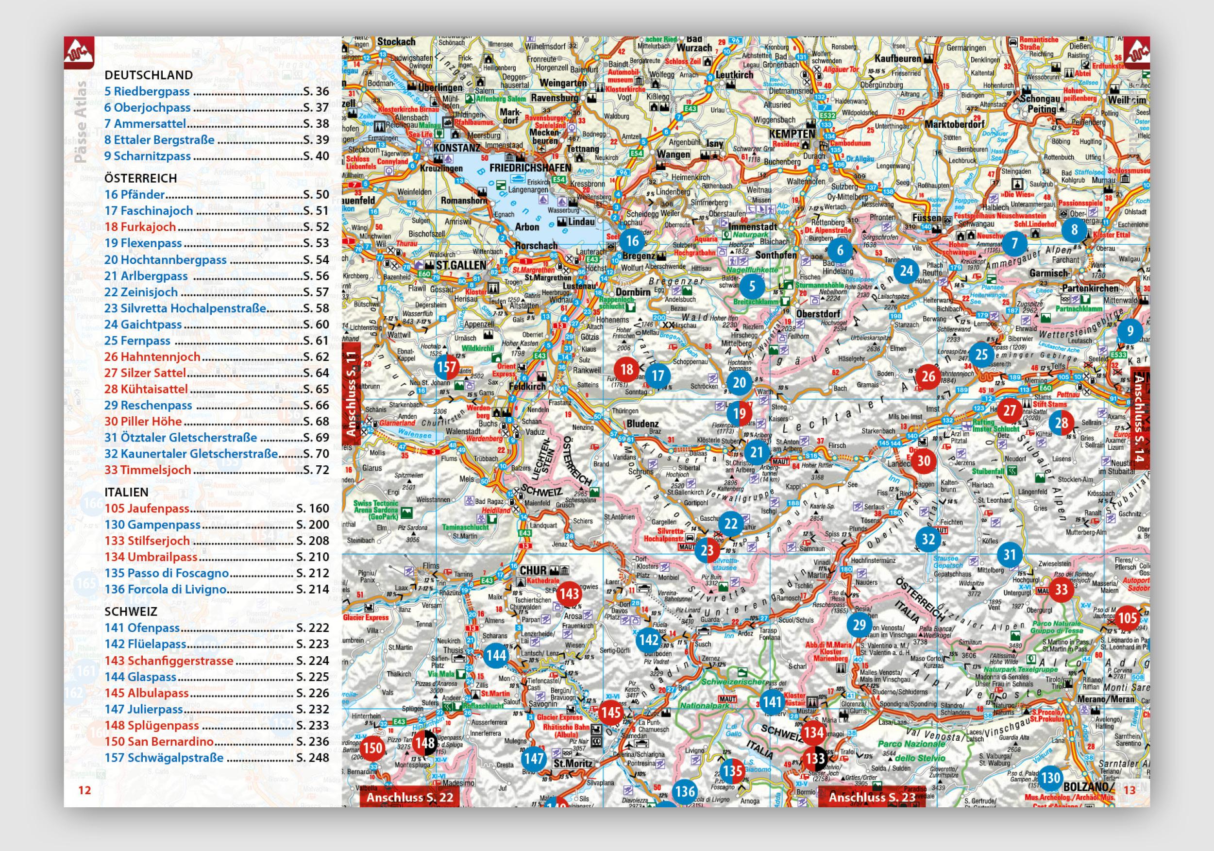 Alpenpässe Karte.Neu Pässe Atlas 2019 222 Pässe Und Panoramastraßen
